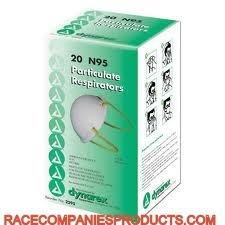 Dynarex N95 Particulate Respirator Masks 2o per box