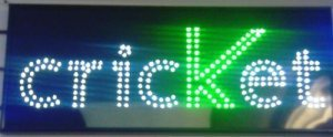 CRICKET RED LED SIGN CELLPHONE MOBILE SHOP SIGN