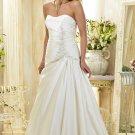 Custom made A-line strapless wedding dresses 2011 AD003