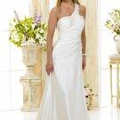 Custom made one shoulder wedding dresses 2011 AD004