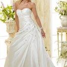 Custom made A-line wedding dresses 2011 AD015