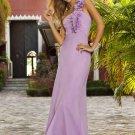 Long purple chiffon bridesmaid/ evening/ formal/ wedding guest dresses AD4072
