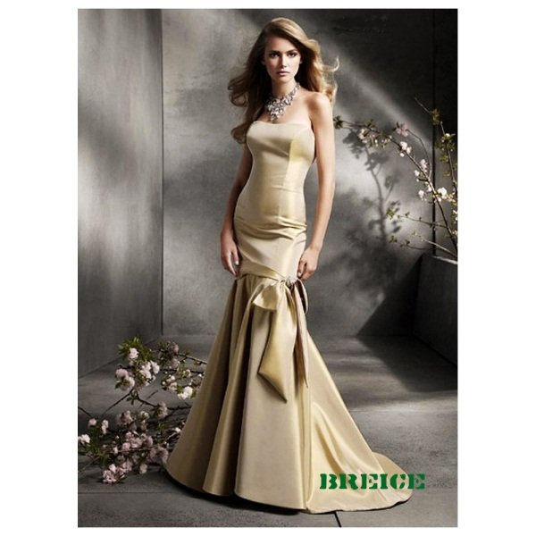 Elegant Gold Long Evening Dresses Prom Formal Gowns 15