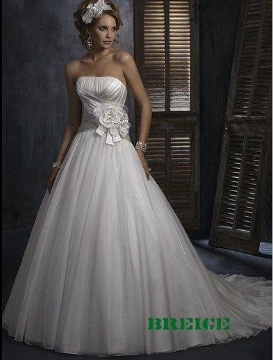 Elegant A-Line Wedding Dress Bridal Gowns 28