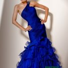 Blue One Shoulder Long Evening Dresses Prom Party Formal Gowns J15