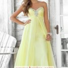 Plus Size A-line Long Yellow Evening Dresses Prom Party Formal Bridal Gowns P10