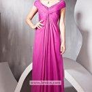 A-line V-neck Off the Shoulder Floor-length Evening Dresses Prom Party Formal Bridal GownsP034
