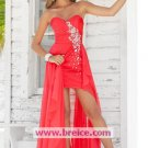 High Low Sweetheart Long Evening Dresses Prom Party Formal Bridal Gowns P055