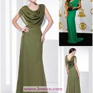 Cowl Chiffon Sheath/Column Floor-length Evening Prom Dress inspired by Tia Carrere at Grammy L03