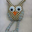 Owl Pillow for Baby Boy Nursery Decor