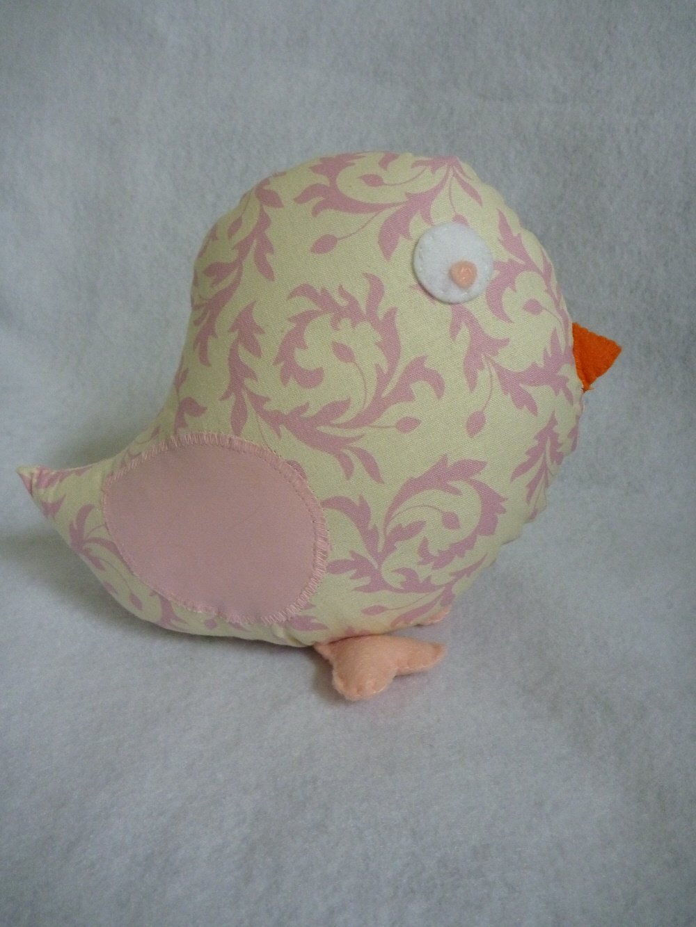 Bird Pillow in Pink for Baby Tree Nursery Decor