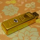 4GB GLITTERING GOLDBAR Flash Memory Stick Thumb Drive