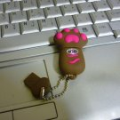 4GB CUTE BROWN PAWS Flash Memory Stick Thumb Drive