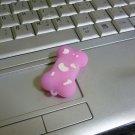 4GB CUTE PINK BONE Flash Memory Stick Thumb Drive