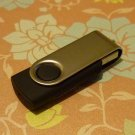 4GB COOL BLACK SWIVEL Flash Memory Stick Thumb Drive