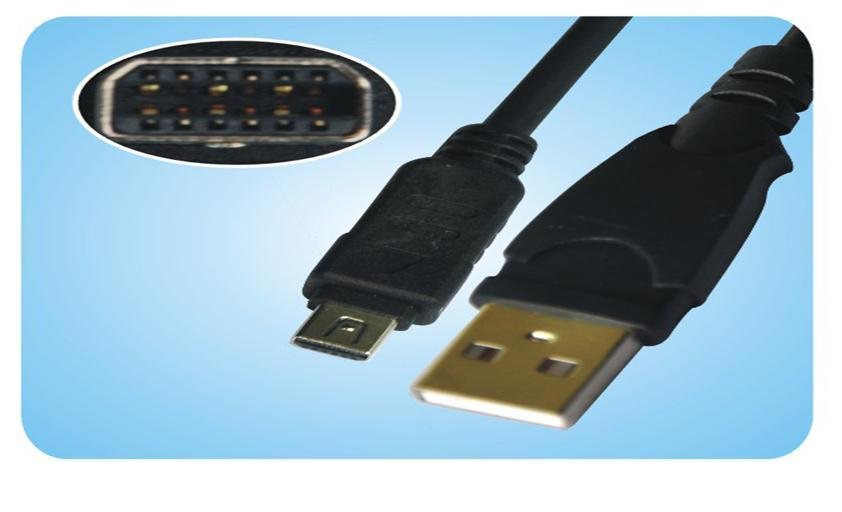 Olympus Digital U810 U800 U1040/U1050 SW/U1200/U MIN/U MIN S 12P USB Cable
