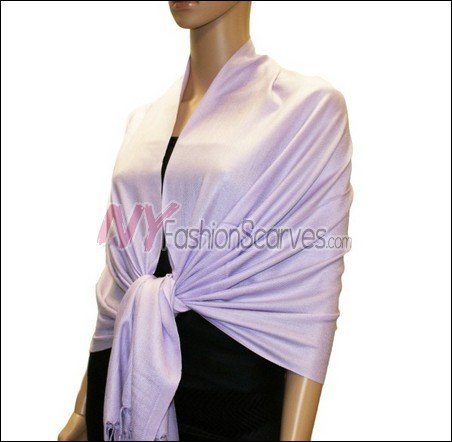 Silky Soft Solid Pashmina <br>Thistle