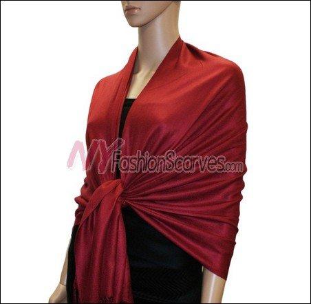 Silky Soft Solid Pashmina <br>Burgundy