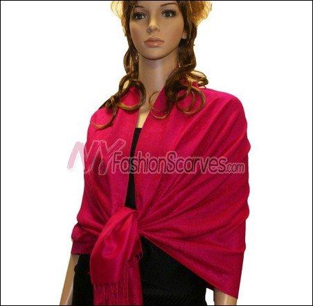 Paisley Jacquard Pashmina<br>Hot Pink