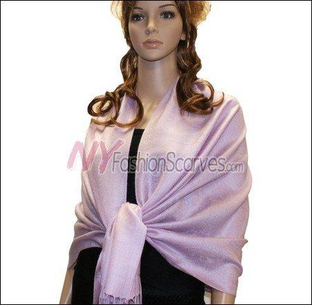 Paisley Jacquard Pashmina<br>Light Lavender