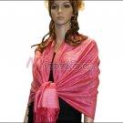 Paisley Jacquard Pashmina<br>Cerise Pink