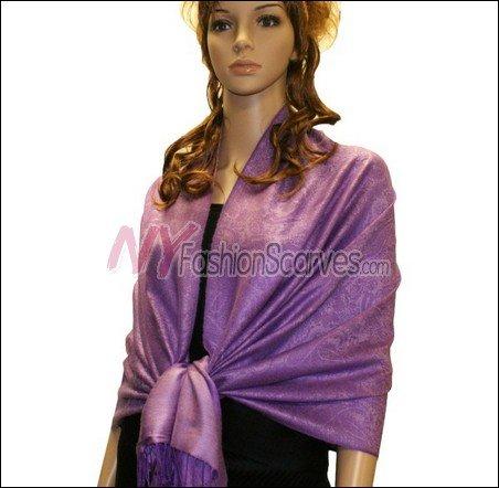 Paisley Jacquard Pashmina<br>Light Purple