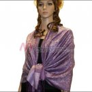 Paisley Jacquard Pashmina<br>Medium Purple
