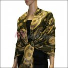 Multi Colored Circle Pashmina <br>Army Green