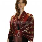 Abstract Circle Shawl <br>Jujube Red