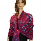 Abstract Circle Shawl <br>Fuchsia Red