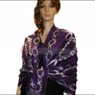 Abstract Circle Shawl <br>Purple