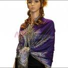 Big Paisley Thicker Pashmina <br>Purple