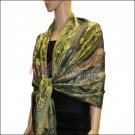 Metallic Stem Flower Shawl 07
