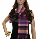 Plaid Cashmere Feel Scarf <br>NY28-01