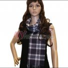 Plaid Cashmere Feel Scarf <br>NY33-02