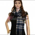 Plaid Cashmere Feel Scarf <br>NY33-04