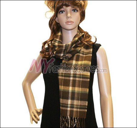 Plaid Cashmere Feel Scarf <br>NY42-02