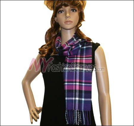 Plaid Cashmere Feel Scarf <br>NY42-04