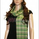 Checker Cashmere Feel  Scarf <br>NY38-03