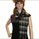 Checker Cashmere Feel  Scarf <br>NY41-04