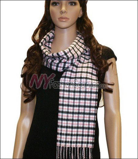 Checker Cashmere Feel  Scarf <br>NY45-01