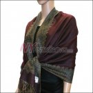 Border Patterned Pashmina<br>Dark Burgundy