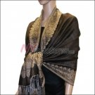 Border Patterned Pashmina<br>Coffee