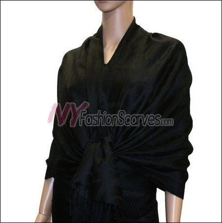 Multi Circle Soft Pashmina <br>Black