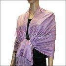 Multi Circle Soft Pashmina <br>Light Purple