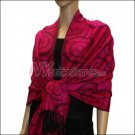 Multi Circle Soft Pashmina <br>Violet Red