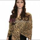 Leopard Print Pashmina Shawl <br>Yellow