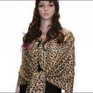 Leopard Print Pashmina Shawl <br>Tan
