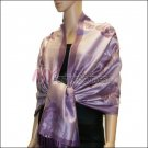 Rose Pattern Pashmina <br>Light Purple