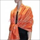 Rose Pattern Pashmina <br>Orange